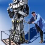 Robot met monteur De Bok